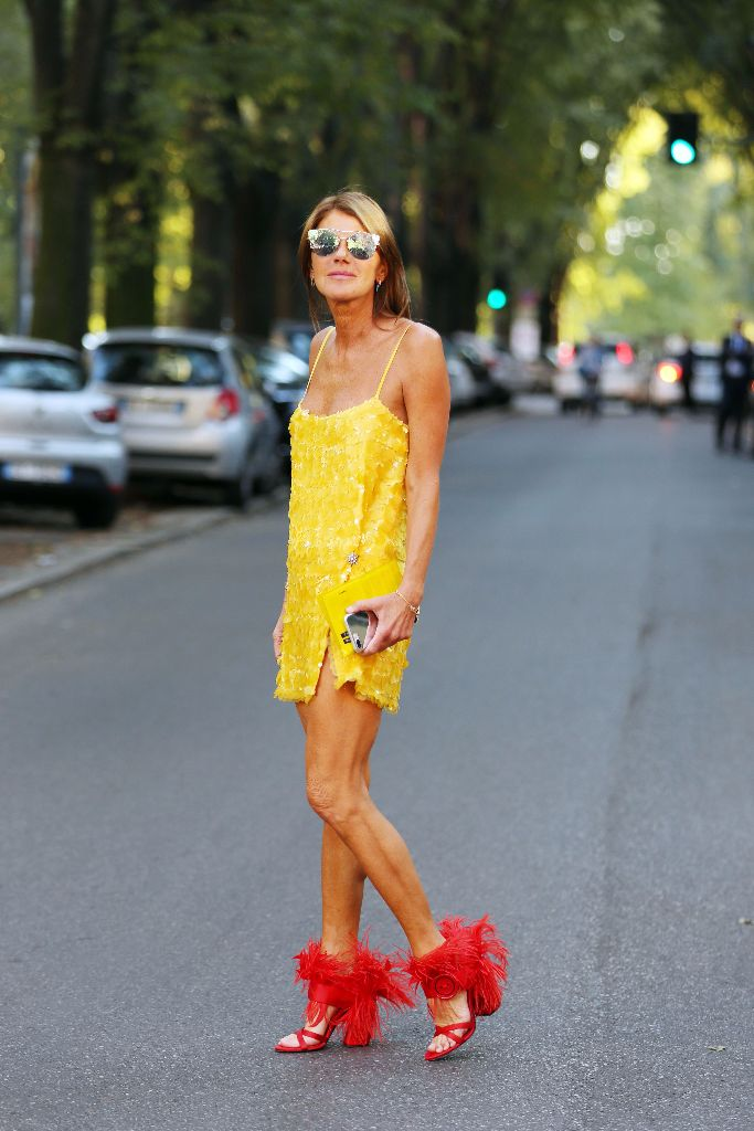 Anna Dello Russo at Milan Fashion Week