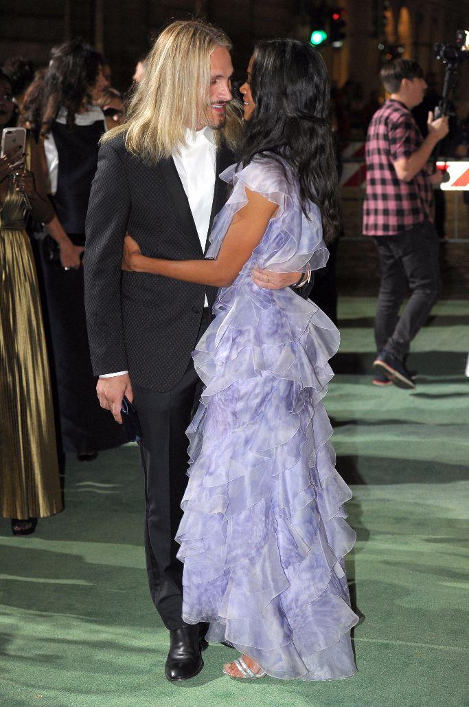 Green Carpet Fashion Awards Italia, Zoe Saldana and Marco Perego,