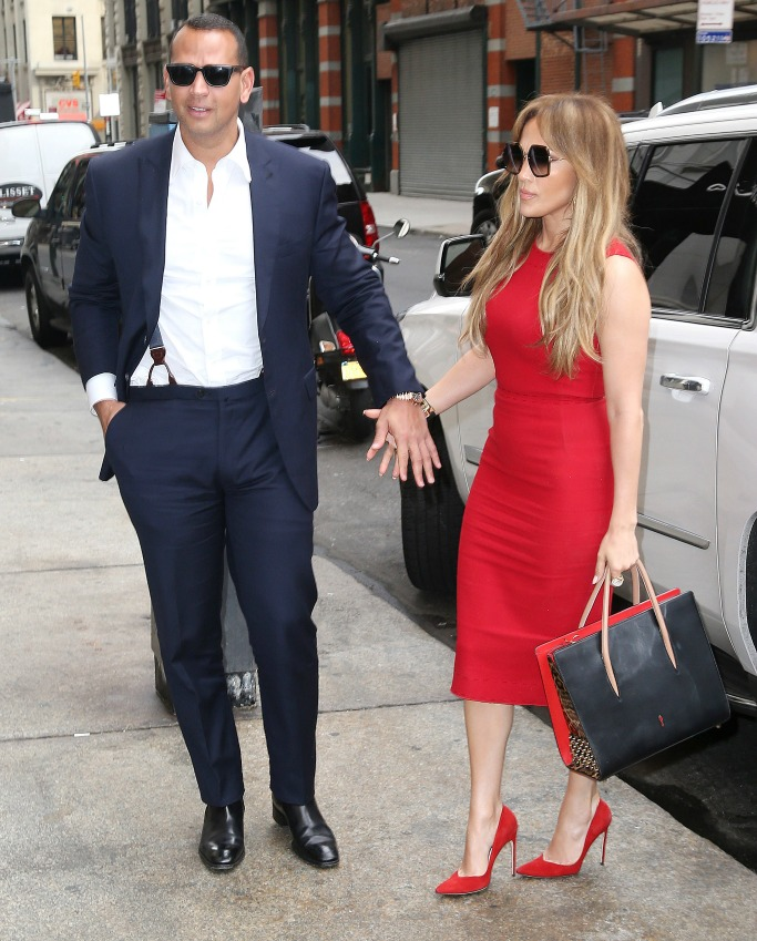 Alex Rodriguez and Jennifer Lopez hit the streets of NYC on Tuesday