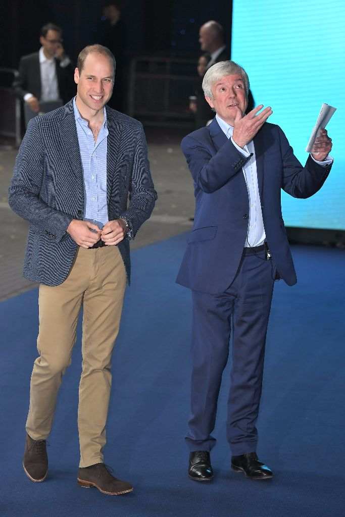 """Prince William with BBC director Tony Hall at the """"Blue Planet II"""" world premiere"""