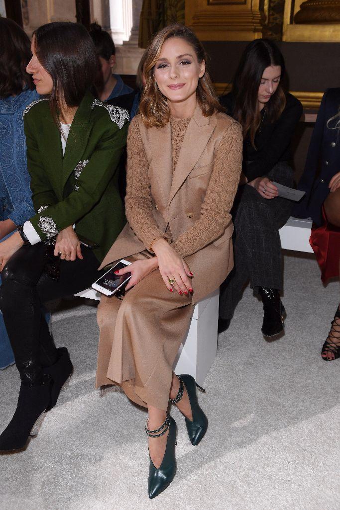 olivia palermo, front row, paris fashion week, Balmain spring 2018