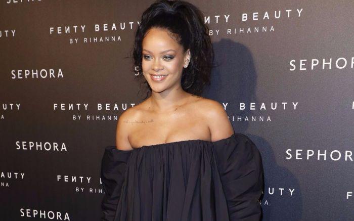 Rihanna at the Fenty Beauty launch in Paris