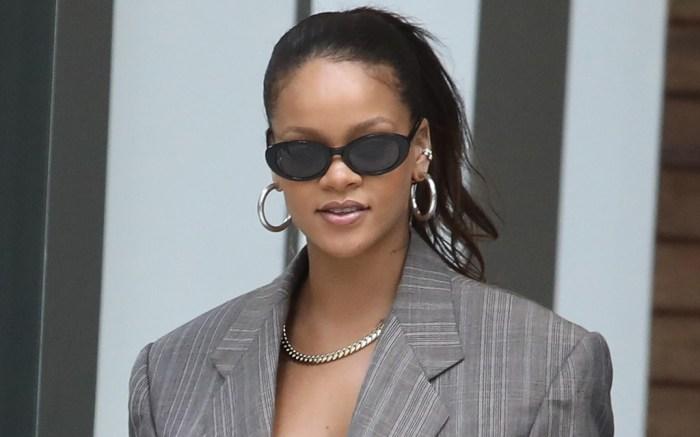 Rihanna, New York City, suit jacket
