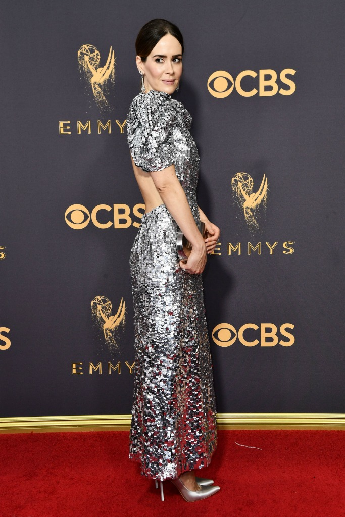 Silver Style at the Emmy Awards Red Carpet: Sarah Paulson