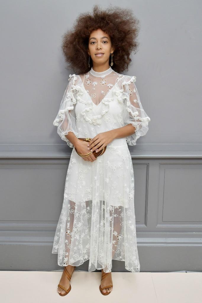 Solange Knowles Paris Fashion Week Fall 2017 Chloe