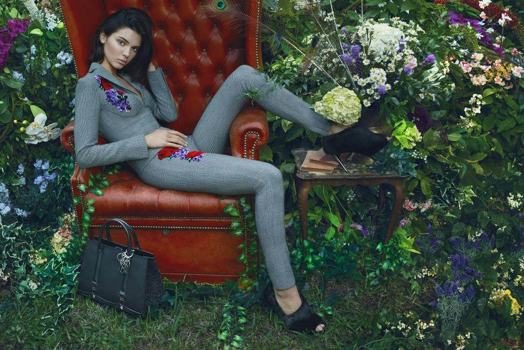Kendall Jenner in La Perla's fall 2017 ad campaign.