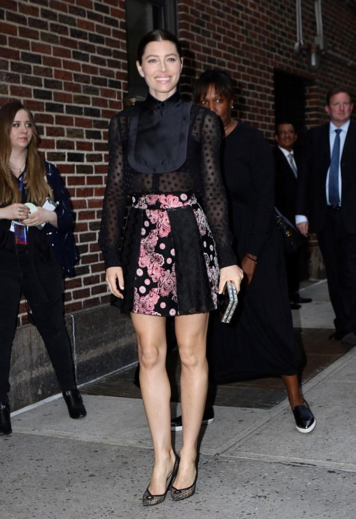 Jessica Biel in New York City.