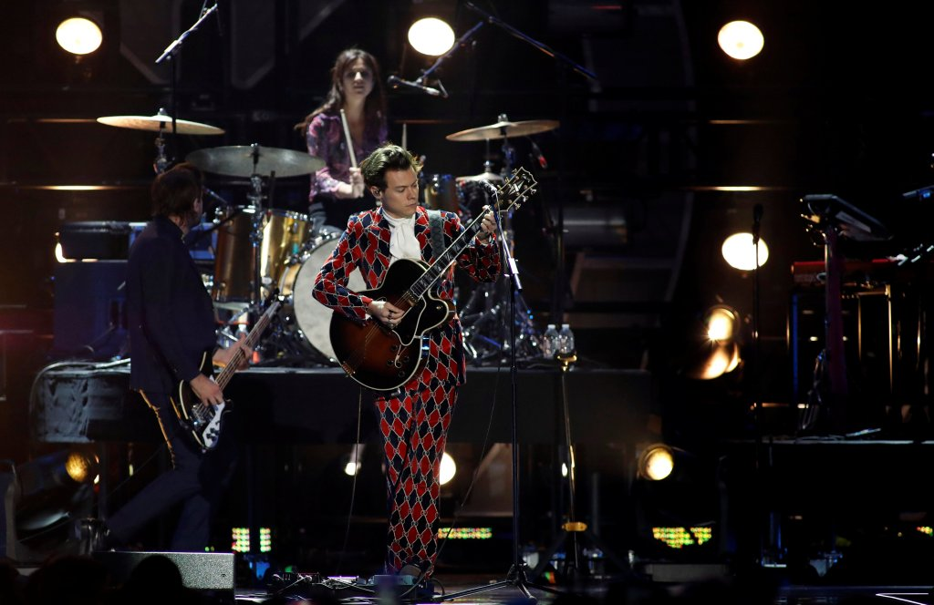 Harry Styles and Pink perform during the iHeartRadio Music Festival.