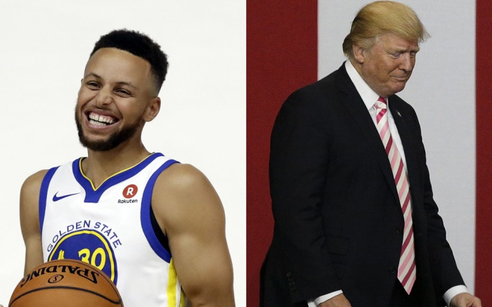 Stephen Curry and Donald Trump