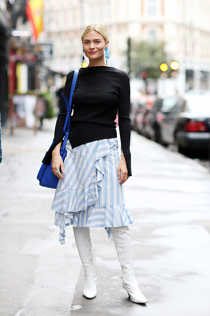 london fashion week, street style, spring 2018