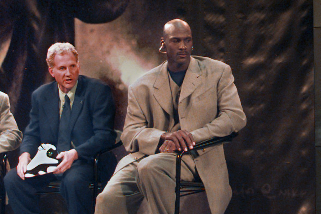 Tinker Hatfield and Michael Jordan