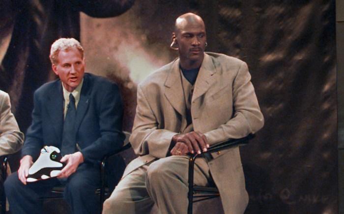 Tinker Hatfield and Michael Jordan