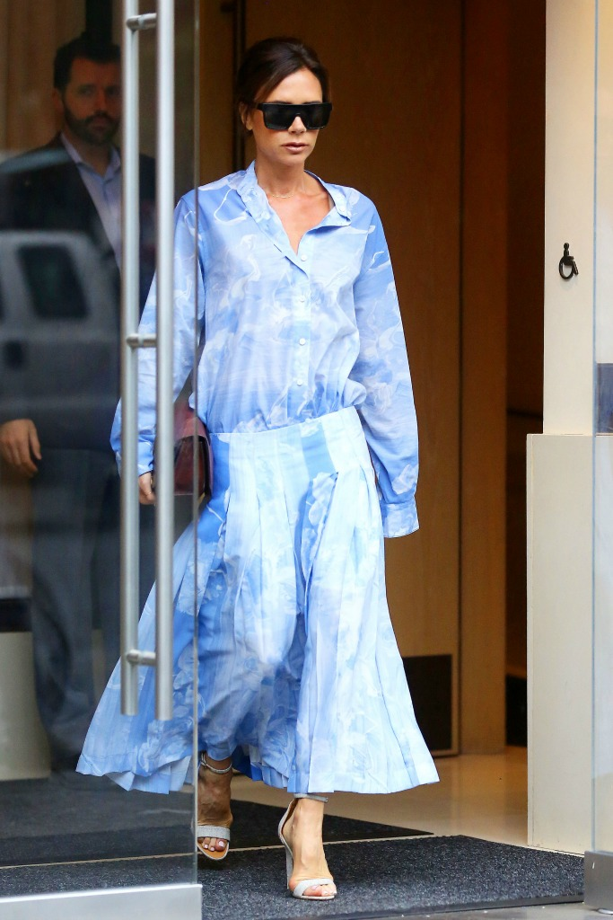 Victoria Beckham on her way to the U.S. Open