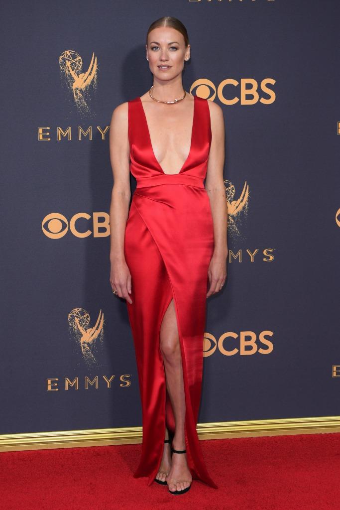 Yvonne Strahovski at the 69th Emmy Awards