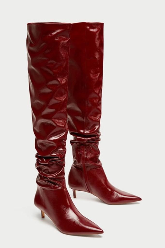 zara slouch boots
