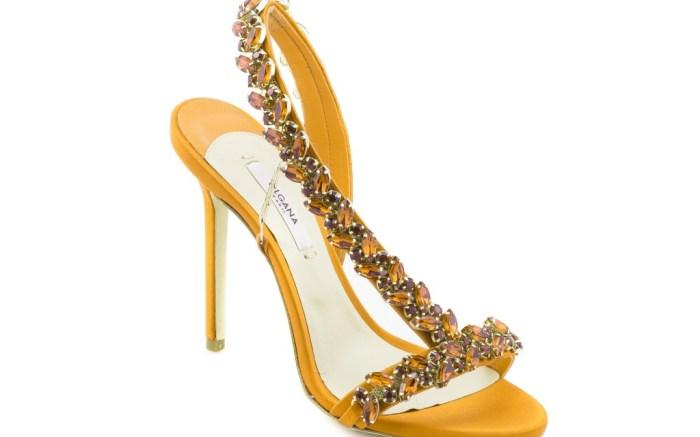 Olgana Paris spring 2018 yellow jeweled sandals