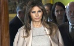 First Lady Melania Trump wearing acne