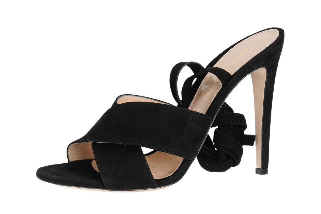 gianvito rossi ankle wrap suede sandals