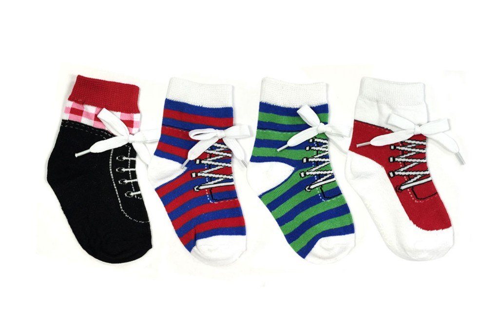 Wrapables Non-Slip Silly Sneaker Socks, baby socks that look like real shoes