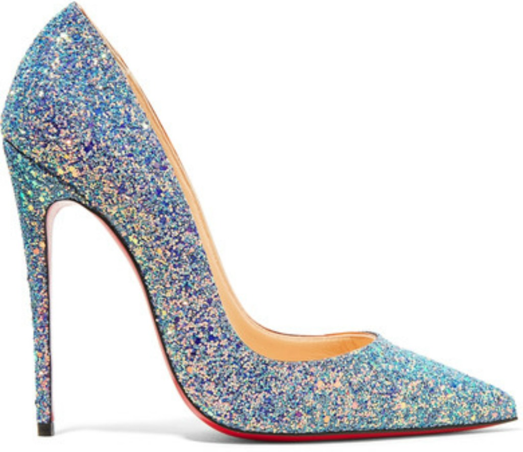 christian louboutin So Kate Dragonfly 120 glittered leather pumps