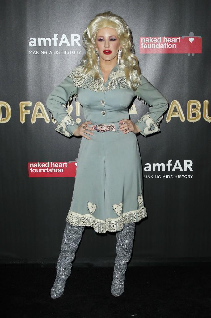 Ellie Goulding as Dolly Parton, halloween 2017