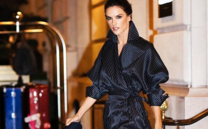 Alessandra Ambrosio at Paris Fashion Week.