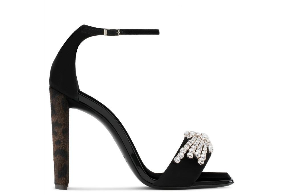 Giuseppe Zanotti Leopard Print crystal sandals