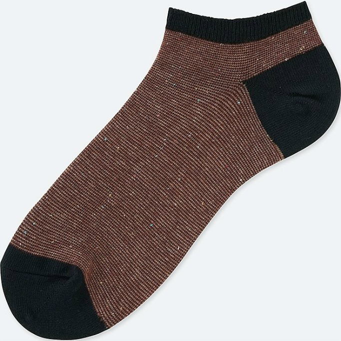uniqlo color narrow line short sock