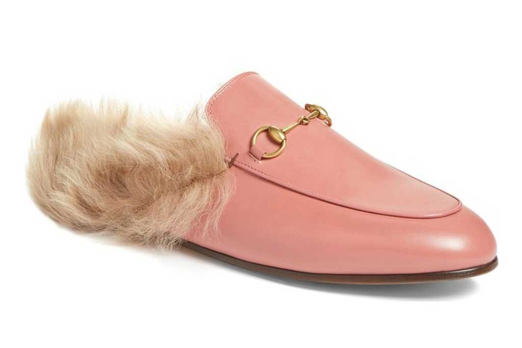 Gucci Princetown Fur Loafer.