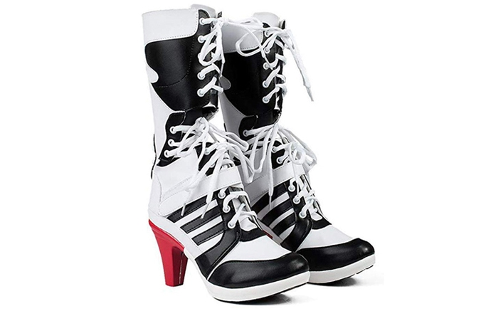 boots for harley quinn halloween costume