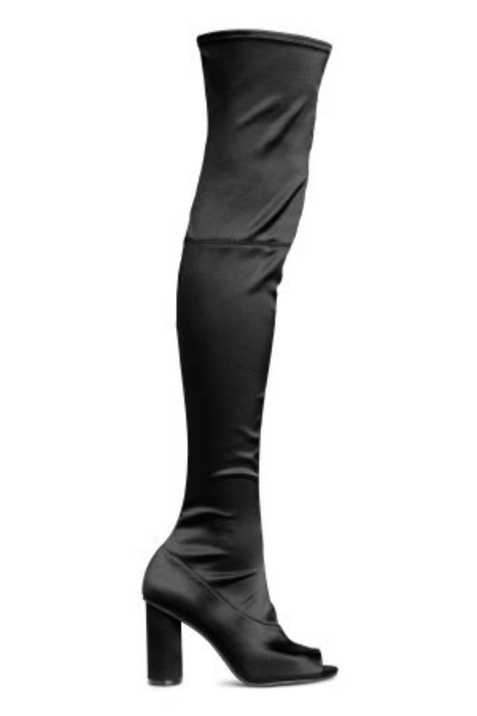 h&m Satin Thigh-high Boots