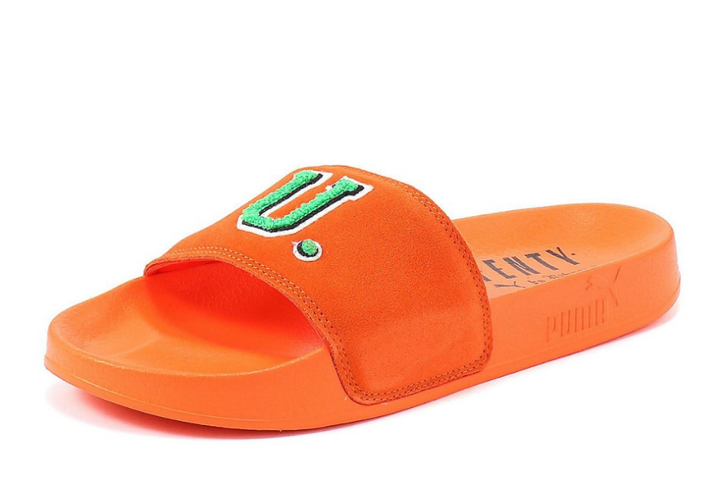 fenty puma by rihanna Unisex Leadcat Suede FU Pool Slide Sandals