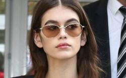 Kaia Gerber arrives at Chanel Fashion