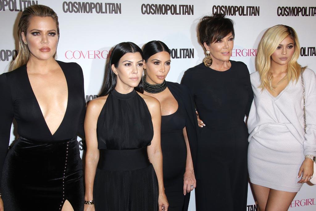 Kris Jenner, Kourtney Kardashian, Kim Kardashian, Khloe KardashianCosmopolitan Magazine's 50th Birthday Celebration, Los Angeles, America - 12 Oct 2015