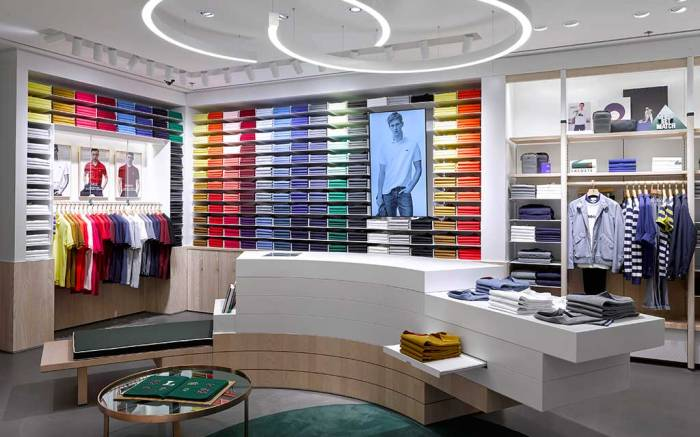 Lacoste's new store concept