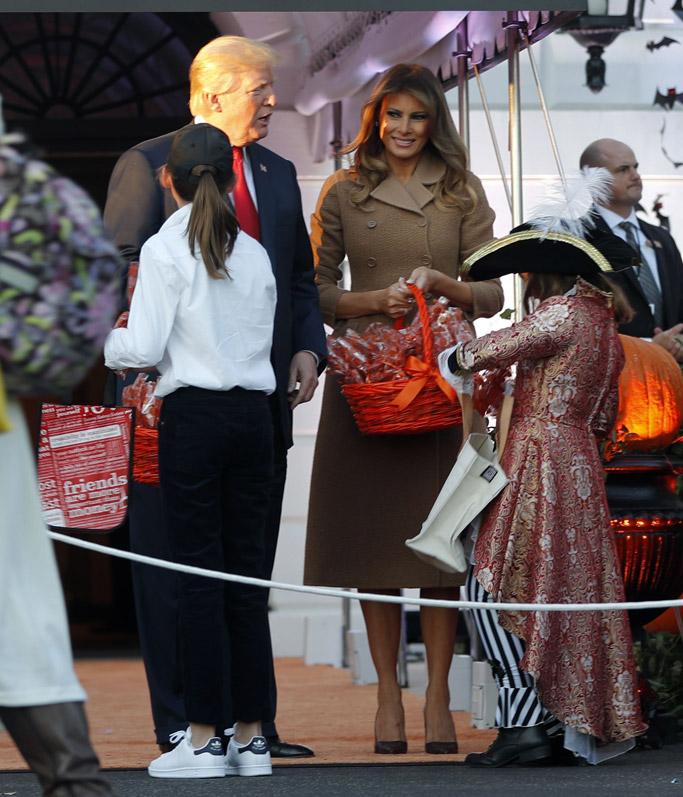 white house halloween party 2017, melania trump costume