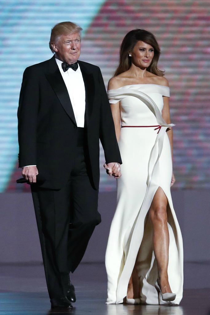 Donald Trump and Melania Trump at the US Presidential Inauguration