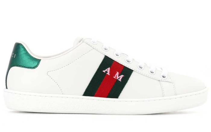 Gucci Ace sneaker personalization at My Theresa.