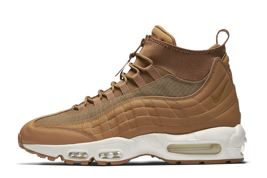Nike Air Max 95 Sneaker Boot Flax Wheat