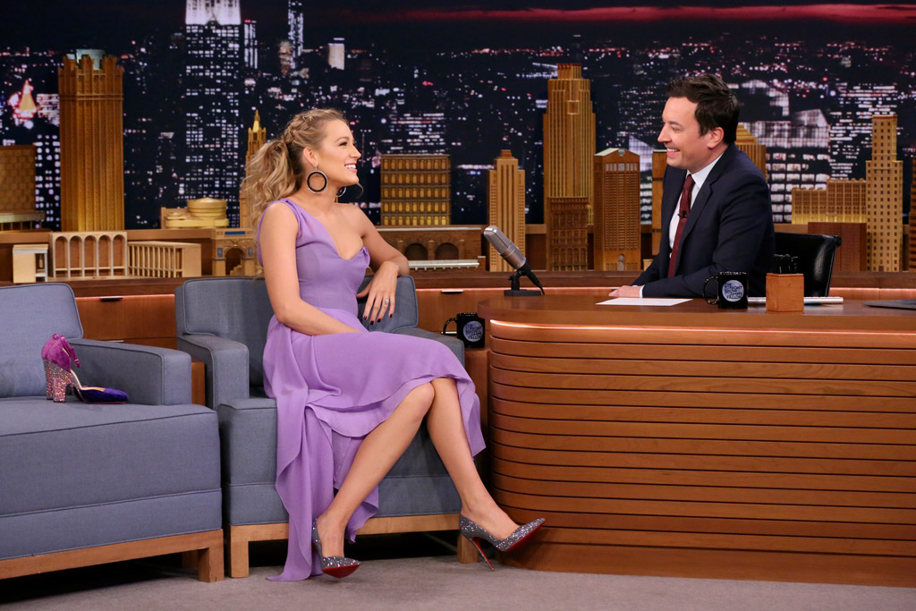 blake lively, jimmy fallon, christian louboutin