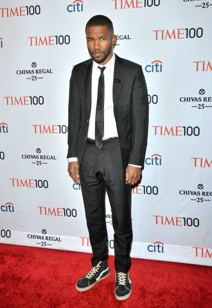 Frank Ocean wearing Vans sneakers at the Time 100 Gala in 2014