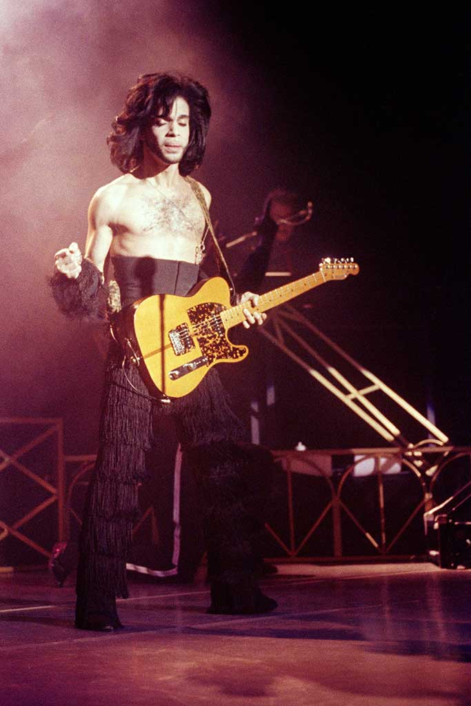 Prince on stage in Minneapolis wearing a similar pair of boots.