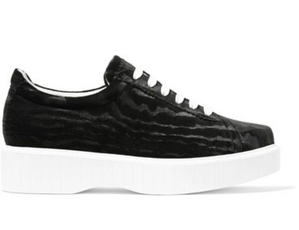Robert Clergerie Paskettn Devoré-velvet Sneakers