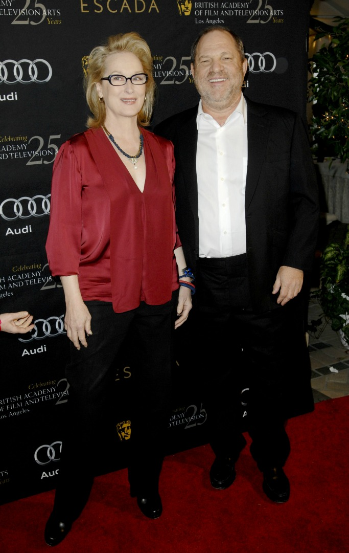 Meryl Streep and Harvey Weinstein in 2012