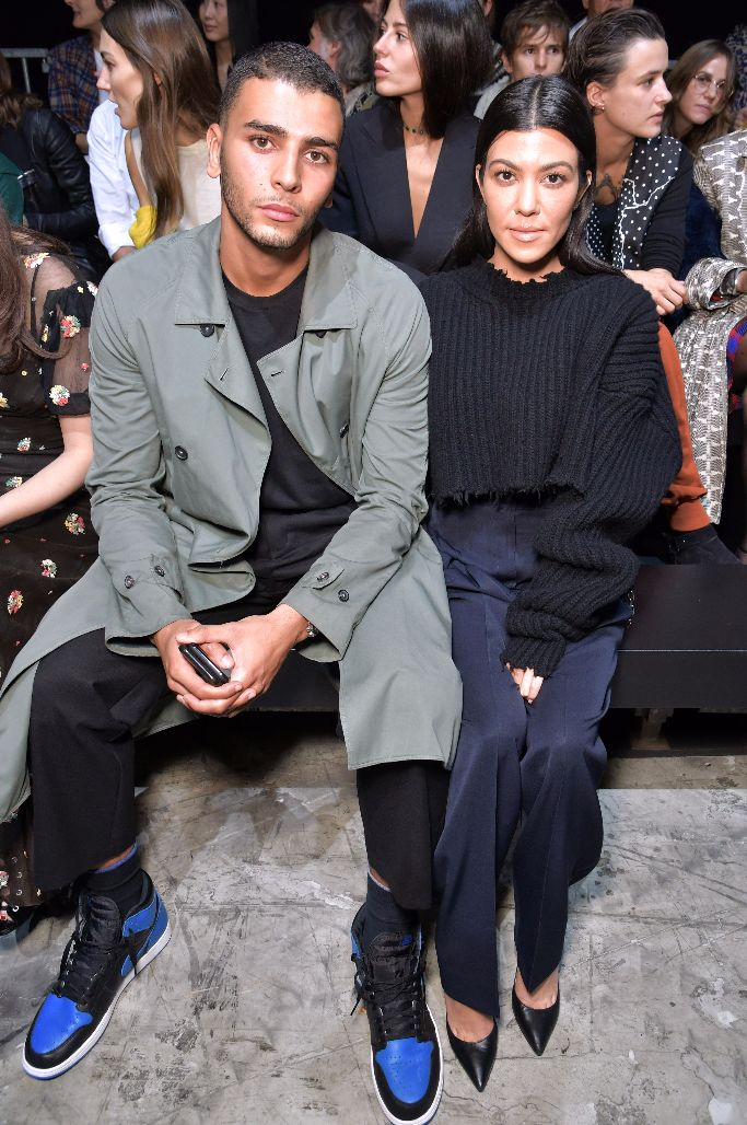 Younes Bendjima and Kourtney Kardashian at Haider Ackermann spring 2018
