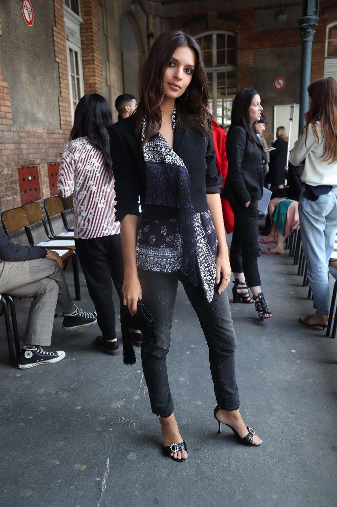 Altuzarra spring 2018, Emily Ratajkowski, paris fashion week