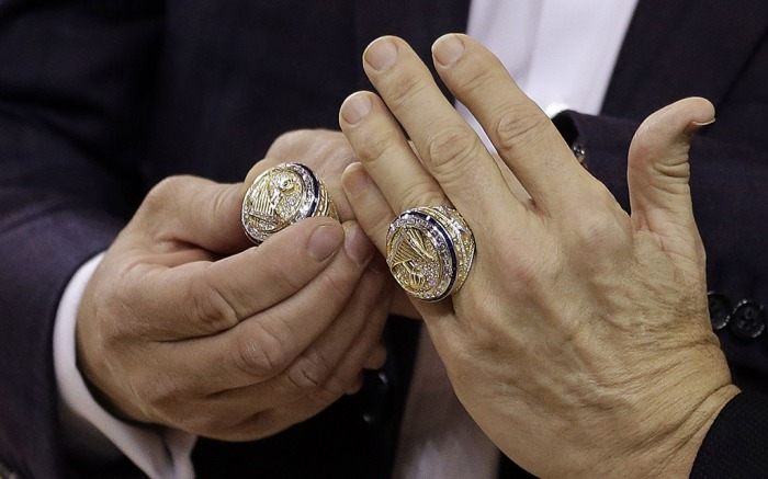 Houston Rockets Golden State Warriors NBA Championship 2017 diamond rings