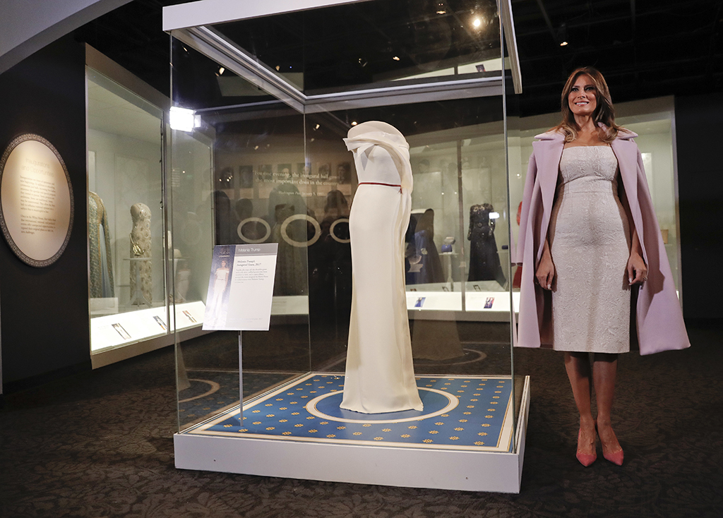 First lady Melania Trump inauguration ball gown