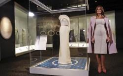 Melania Trump's Inaugural Gown at Smithsonian Museum