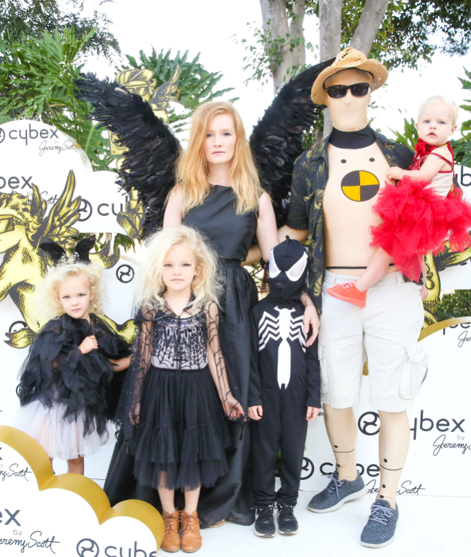 James Van Der Beek family at the Cybex by Jeremy Scott Cherubs launch party